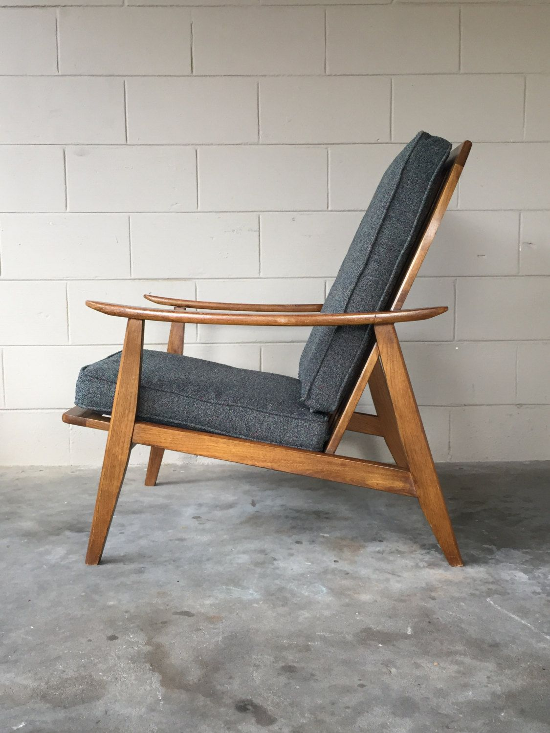 Magnificent Mid Century Modern Lounge Chair Retro High Back Arm Chair Spiritservingveterans Wood Chair Design Ideas Spiritservingveteransorg