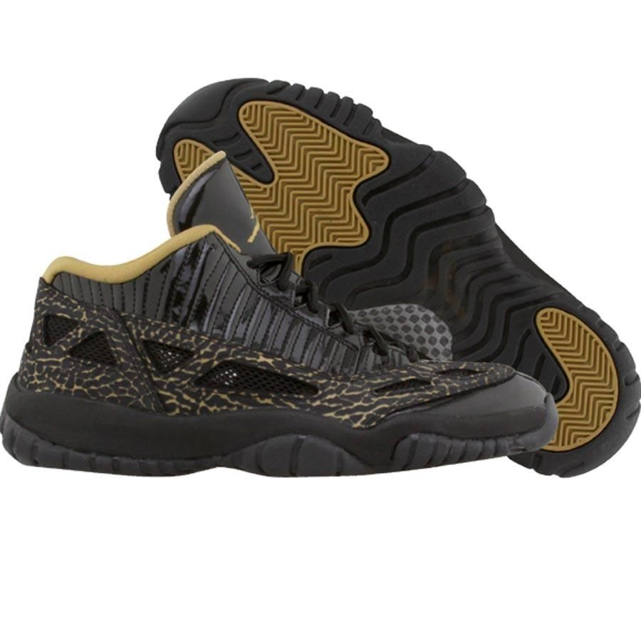 1d0a807a1734b Nike Womens Air Jordan Retro XI 11 Low (black   metallic gold) 316318-071 -   104.99