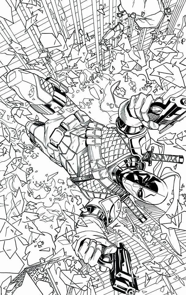 Deathstroke 14 By Emanuela Lupacchino Superhero Coloring