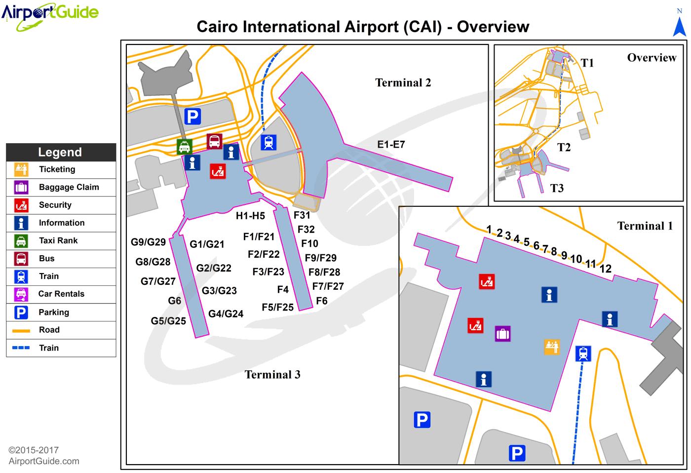 Cairo Cairo International Cai Airport Terminal Map