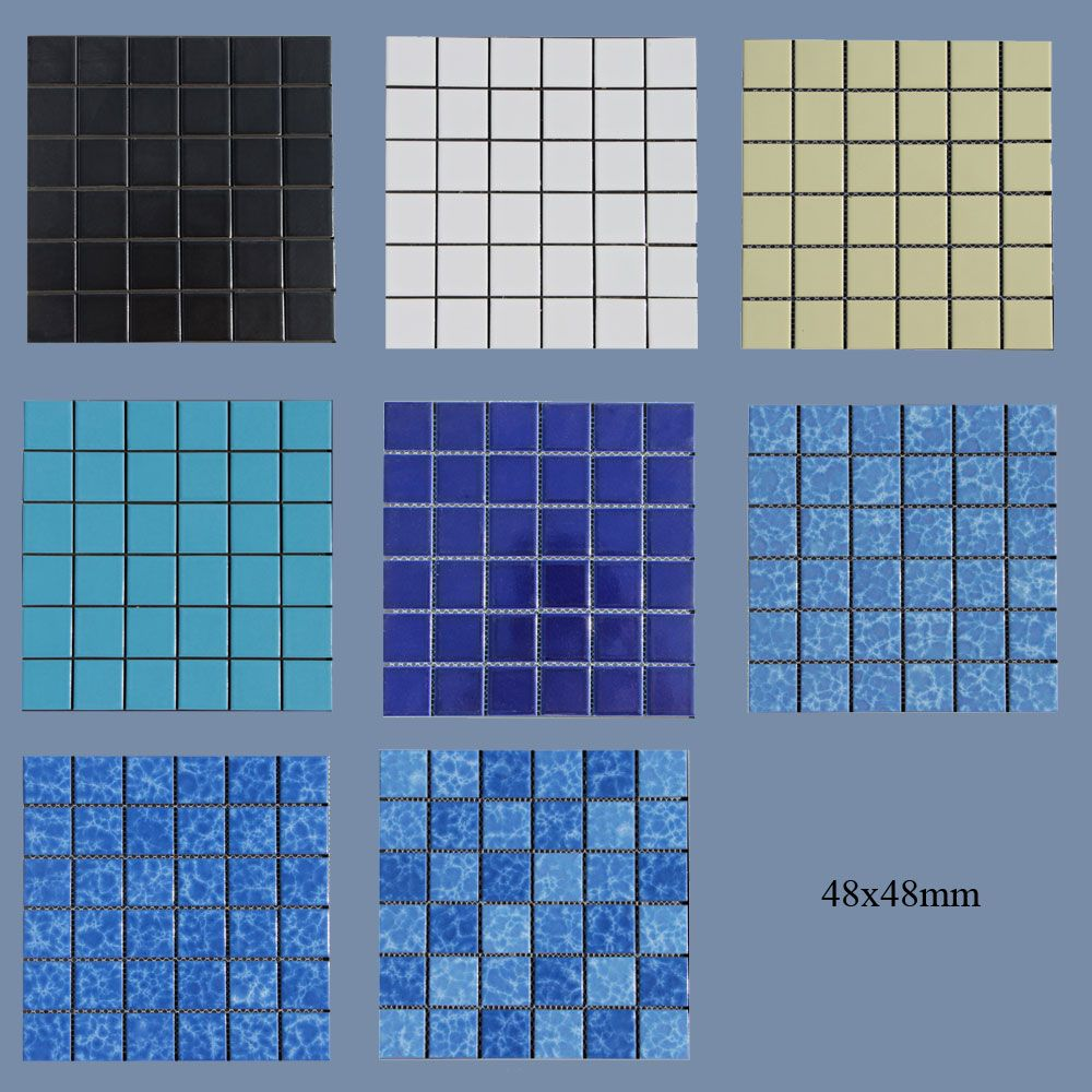 Swimming Pool Tiles Mosaic Tiles Size 48x48mm Or 25x25mm Suitable For Swimming Pools Kitchens Bathrooms Exterior Wall Tiles Exterior Insulation Wall Tiles
