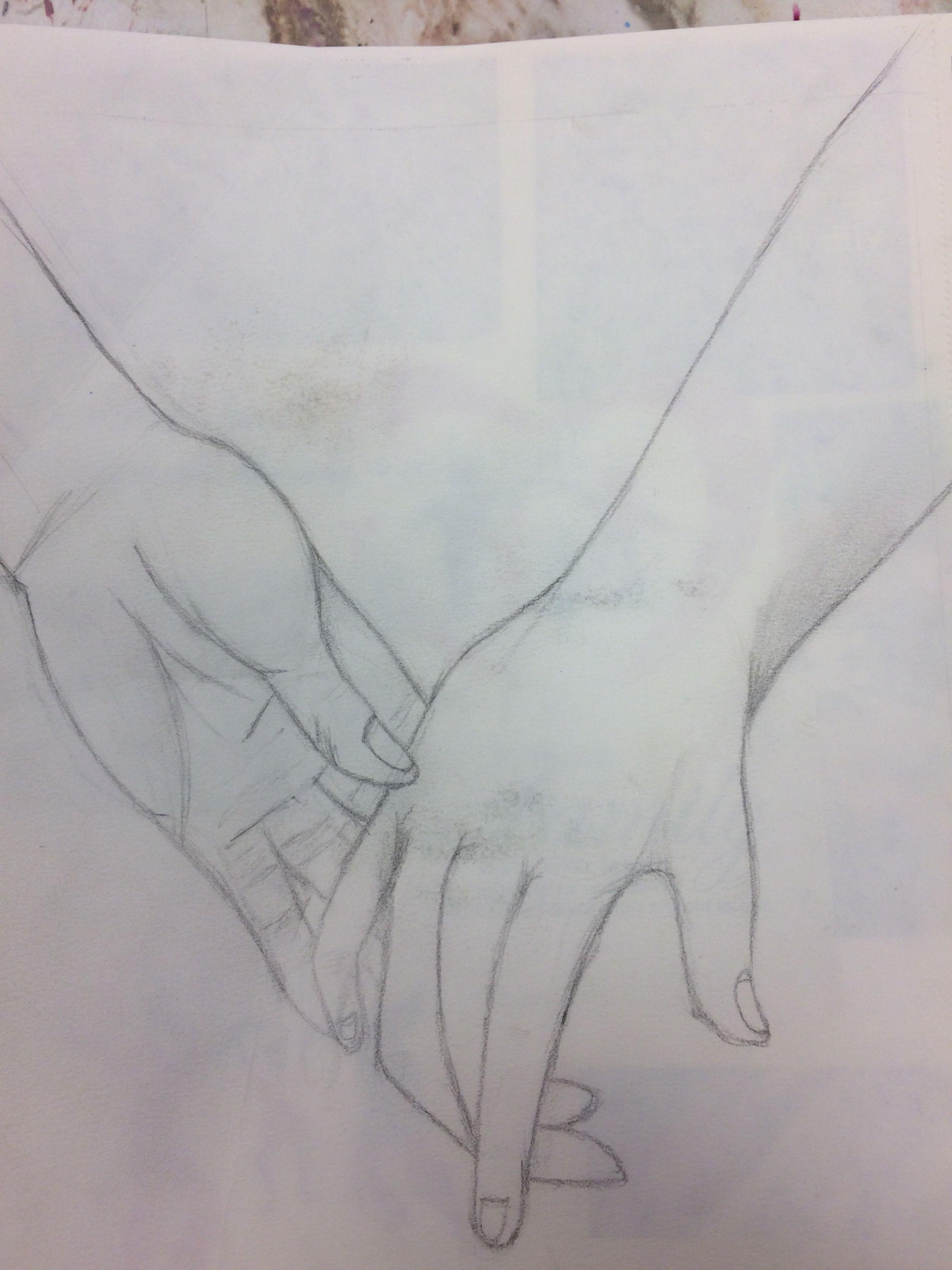 Realistic holding hands sketch graphite | My art | Pinterest
