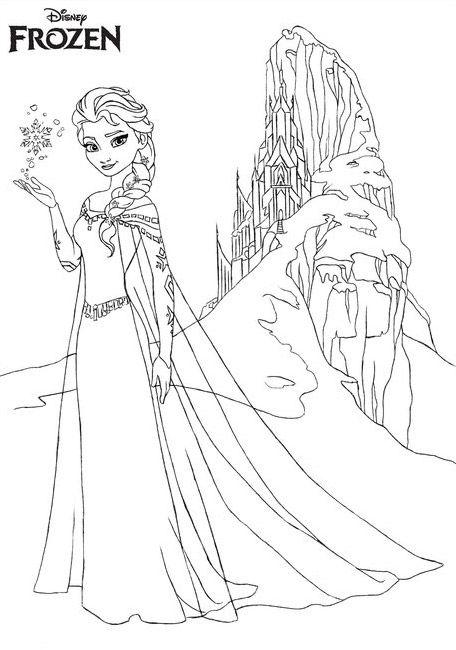 Dibujos de Frozen para colorear pintar e imprimir Anna Elsa