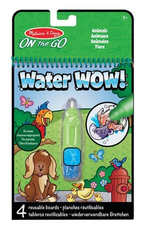 Melissa Doug On The Go Water Wow Reusable Water Reveal Activity Pad Animals Walmart Canada Animal Books Painted Books Coloring Books