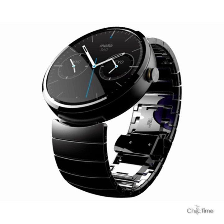 Motorola révèle sa montre connectée : la 360. Ce modèle dernière génération tournera sous Android Wear, l'OS de Google. Une montre intelligente et pleine de ressources. Pour en savoir plus : http://blog.chic-time.com/montre-connectee-google-os-android-wear/