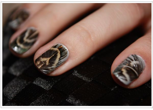 DIY feather nails!!!!!!