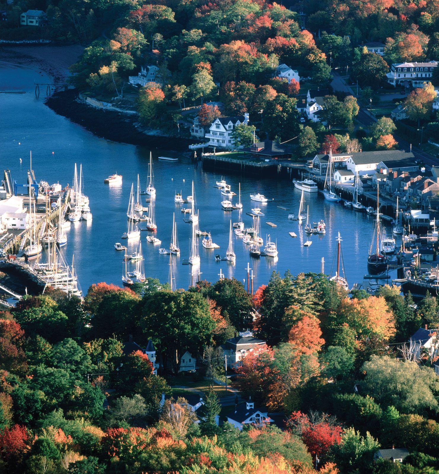 Camden Harbor, Maine Beautiful New England harbor town. I