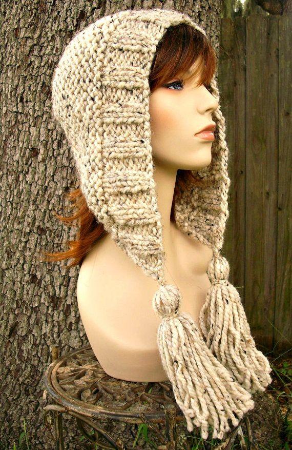 Knitted Hat Pattern Tassel Hat Knitting Pattern - Chunky ...