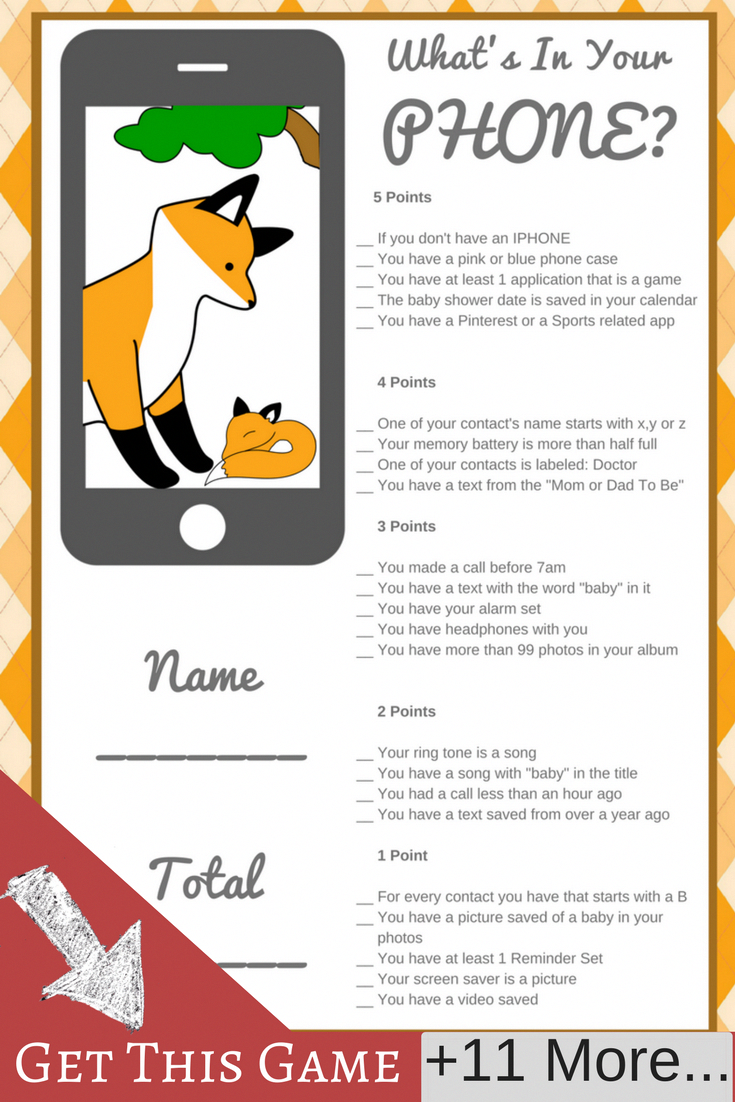 Fox Baby Shower Theme Fox Baby Shower Theme Boys Fox Baby Shower Ideas Printable Baby Shower Ga Baby Shower Brunch Fox Baby Shower Baby Shower Printables