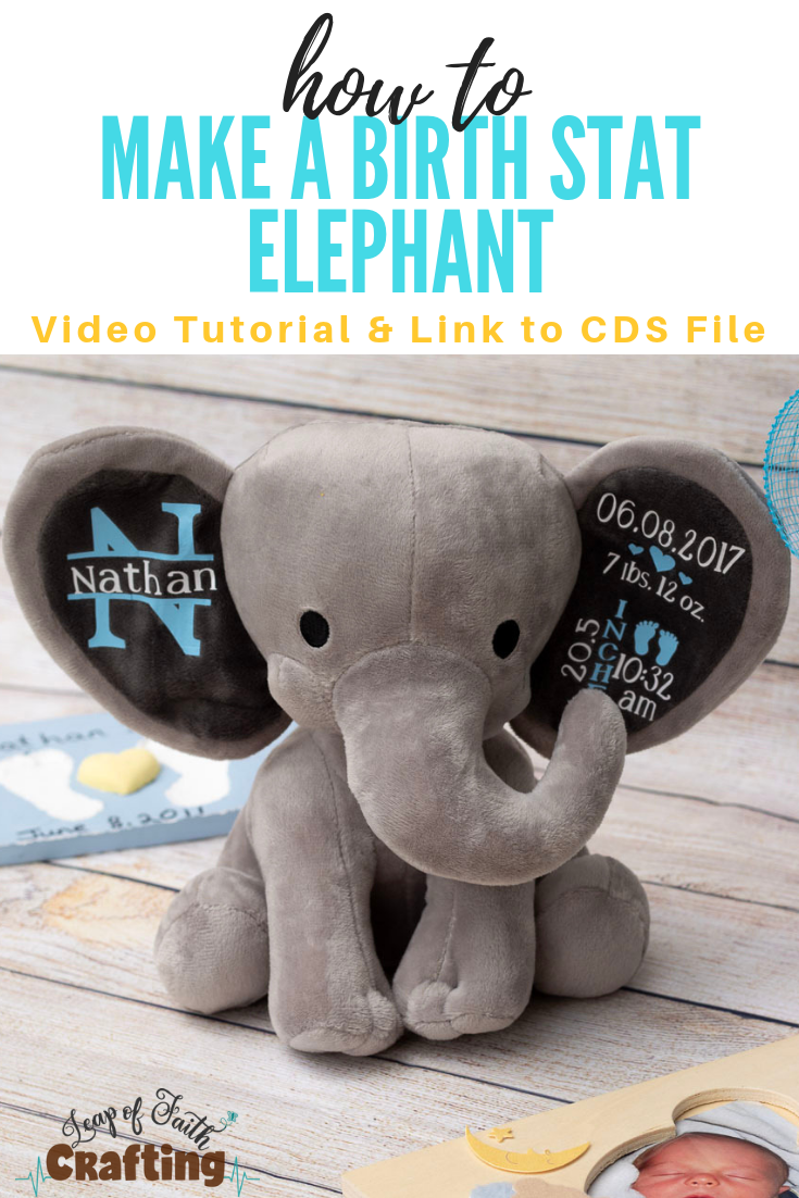 Personalized Baby Stuffed Animals, Diy Baby Gifts How To Make An Adorable Birth Stat Elephant Leap Of Faith Crafting Newborn Baby Gifts Personalized Baby Gifts Diy Baby Gifts
