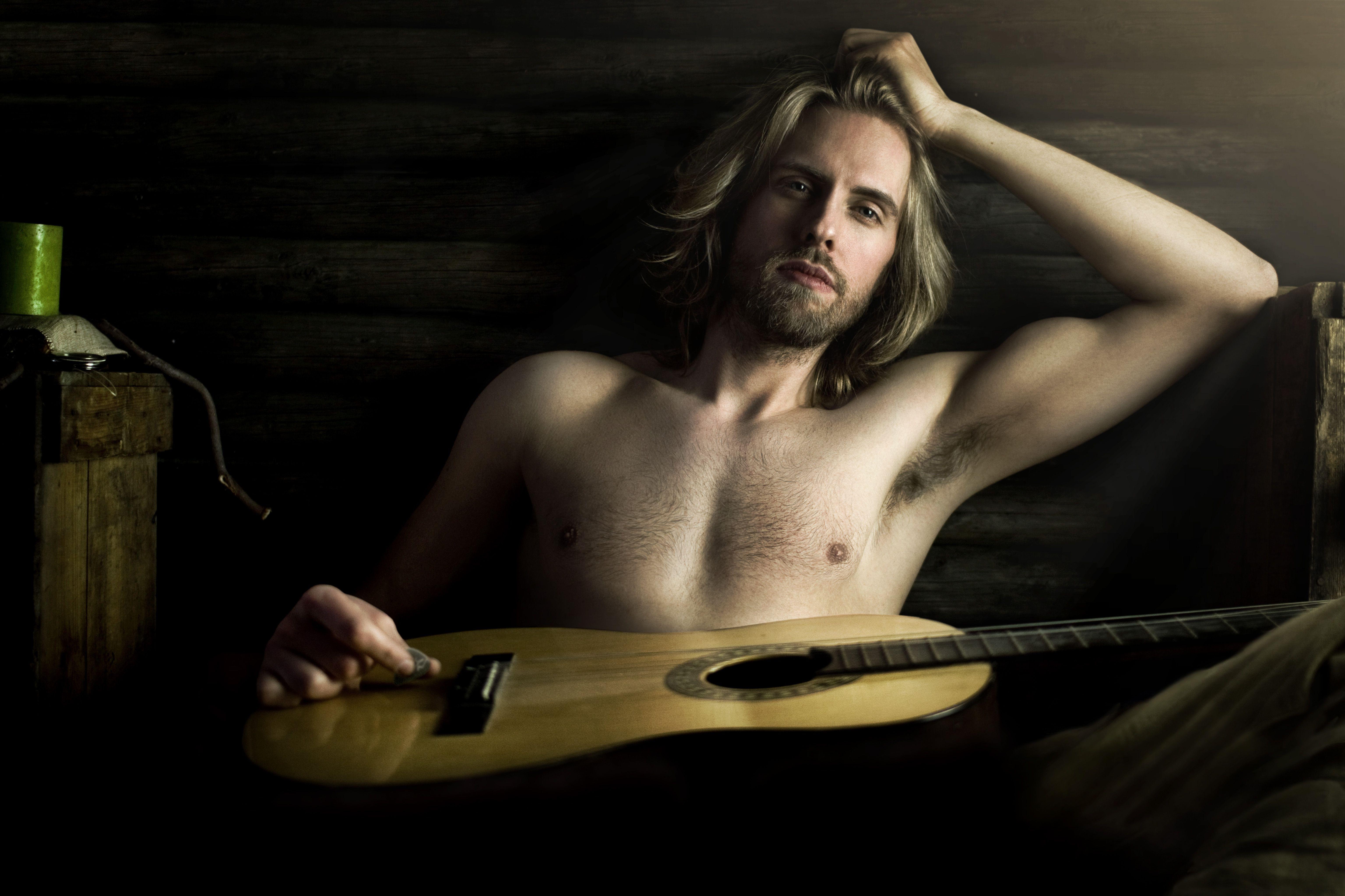 Naked guitar hero
