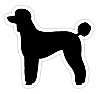 Black Standard Poodle Silhouette S Sticker By Jenn Inashvili Black Standard Poodle Standard Poodle Poodle Tattoo
