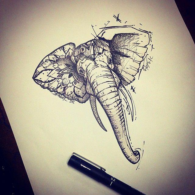 afficher l 39 image d 39 origine tatoo elephant pinterest images tatouages et tatouage l phant. Black Bedroom Furniture Sets. Home Design Ideas
