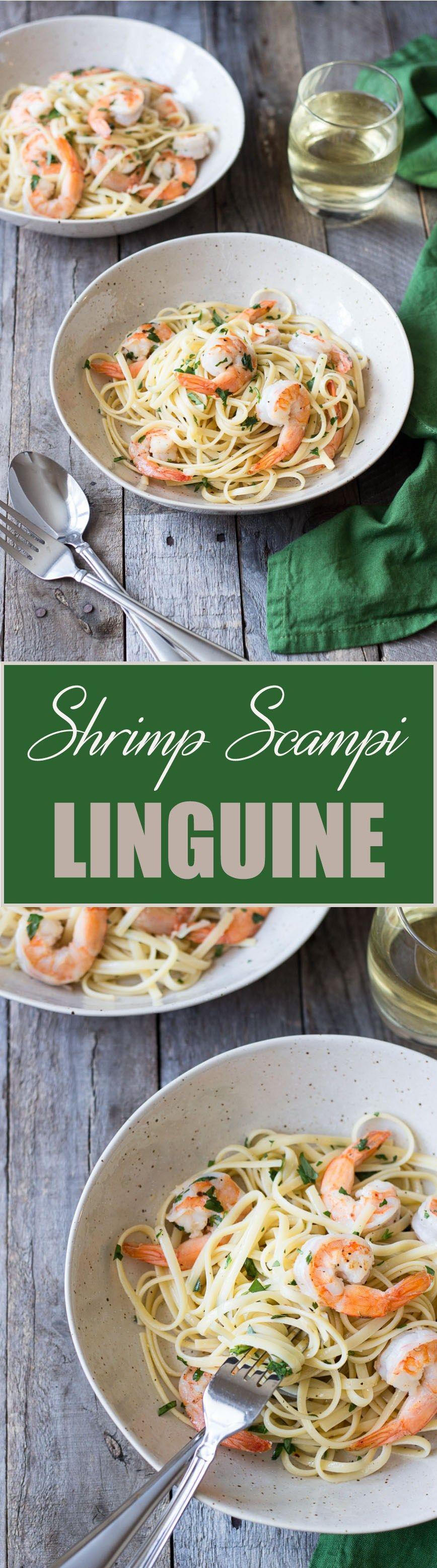 Shrimp Scampi Linguine is a classic, quick Italian pasta dish. #shrimpscampirecipe #shrimpscampirecipesgarlic #shrimpscampirecipesitalian #shrimpscampi #recipes #cooking #mythreeseasons #shrimpscampi