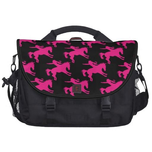 Awesome Hot Pink Horse Riding Rodeo Cowgirl Laptop Bag
