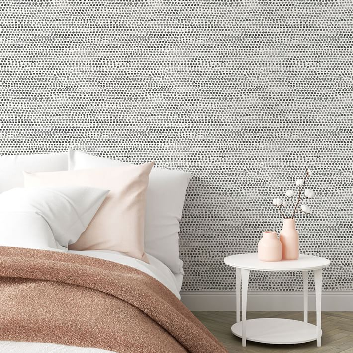 Tempaper Moire Dots Removable Wallpaper In 2020 Removable Wallpaper Bedroom Styles White Walls