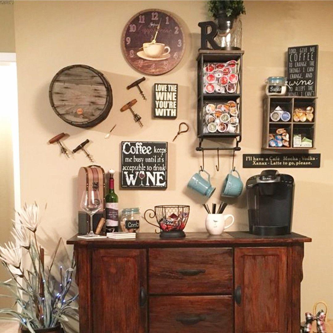 DIY Coffee Bar Ideas Stunning Farmhouse Style Beverage