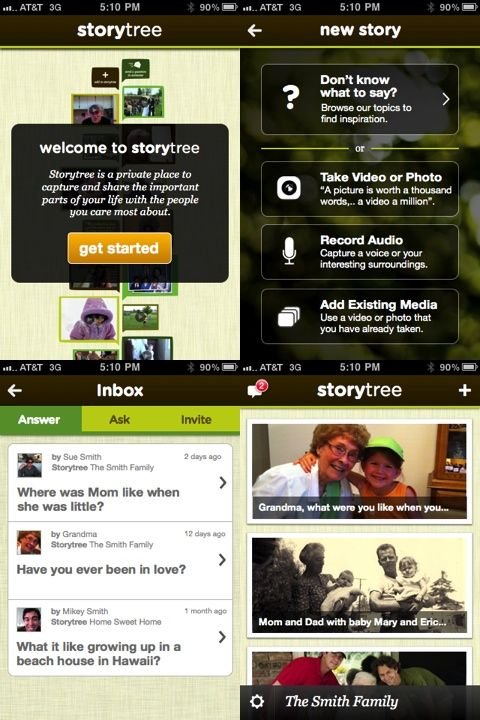 Storytree A New Digital Story Telling And Scrapbook App For Iphone