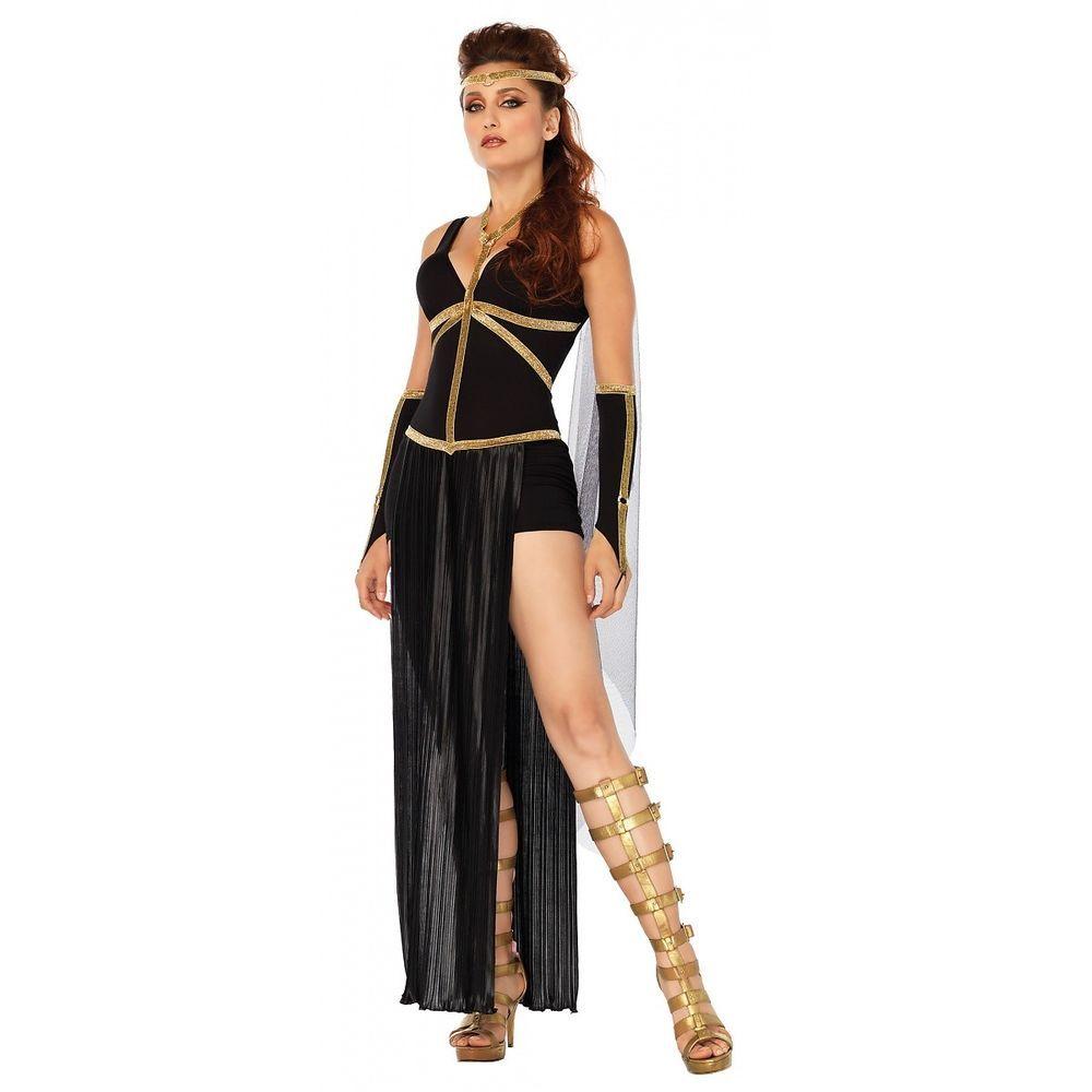 1b8c737714c Greek Goddess Costume Adult Dark Warrior Princess Halloween Fancy Dress