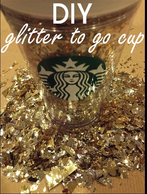 the Brilliant Budgetista: DIY Starbucks Glitter Cup