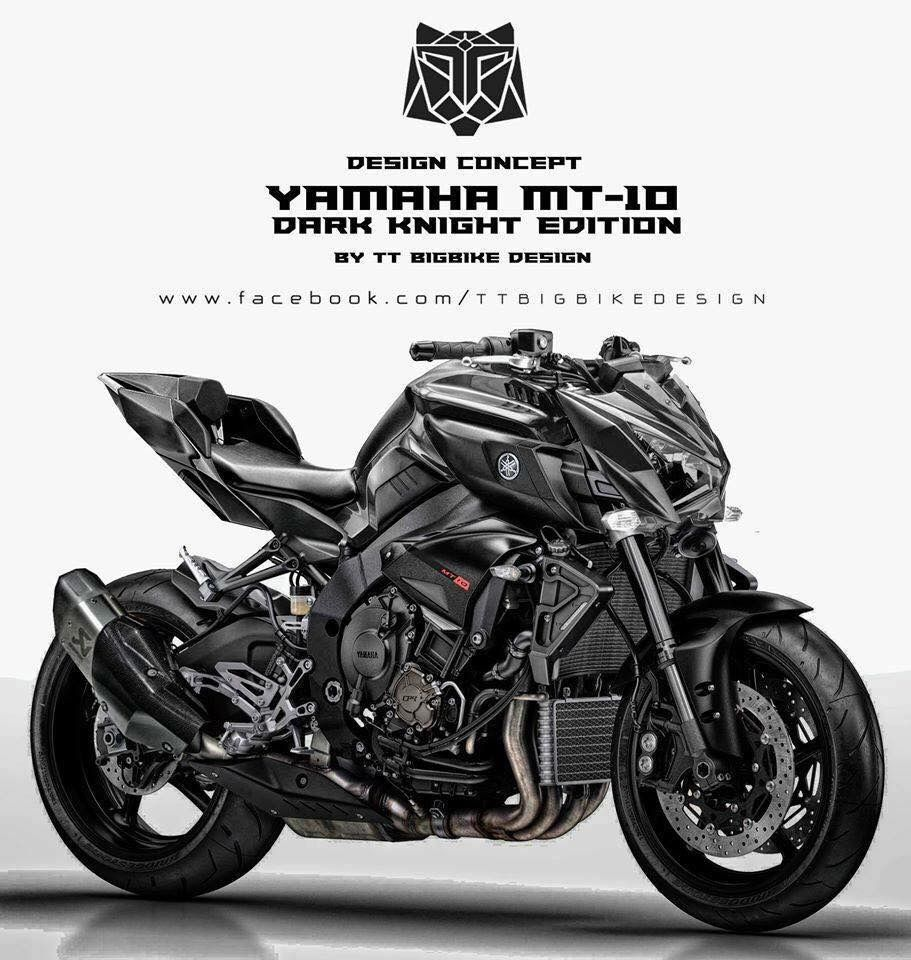 Yamaha Mt 10 Dark Knight Edition Yamaha Motorcycles Futuristic