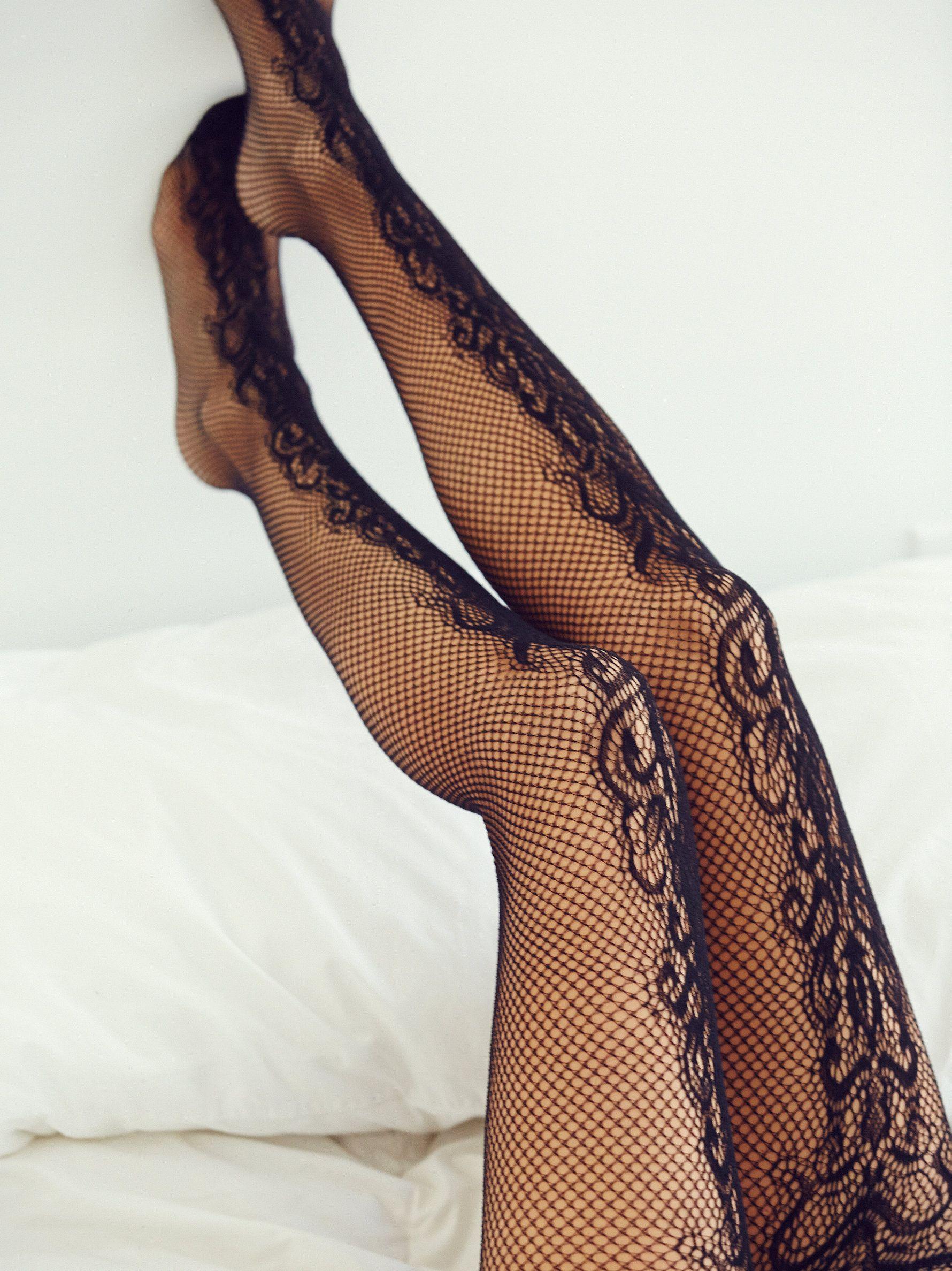 Women Lace Fischnetz Hollow Muster Strumpfhosen Strümpfe Unterwäsche YR