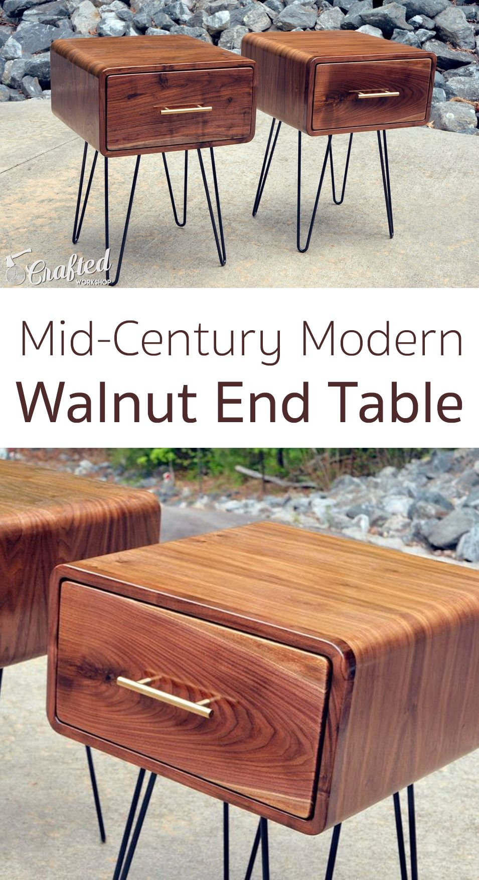 Mid Century Modern Walnut End Table Workshop Projects Midcentury