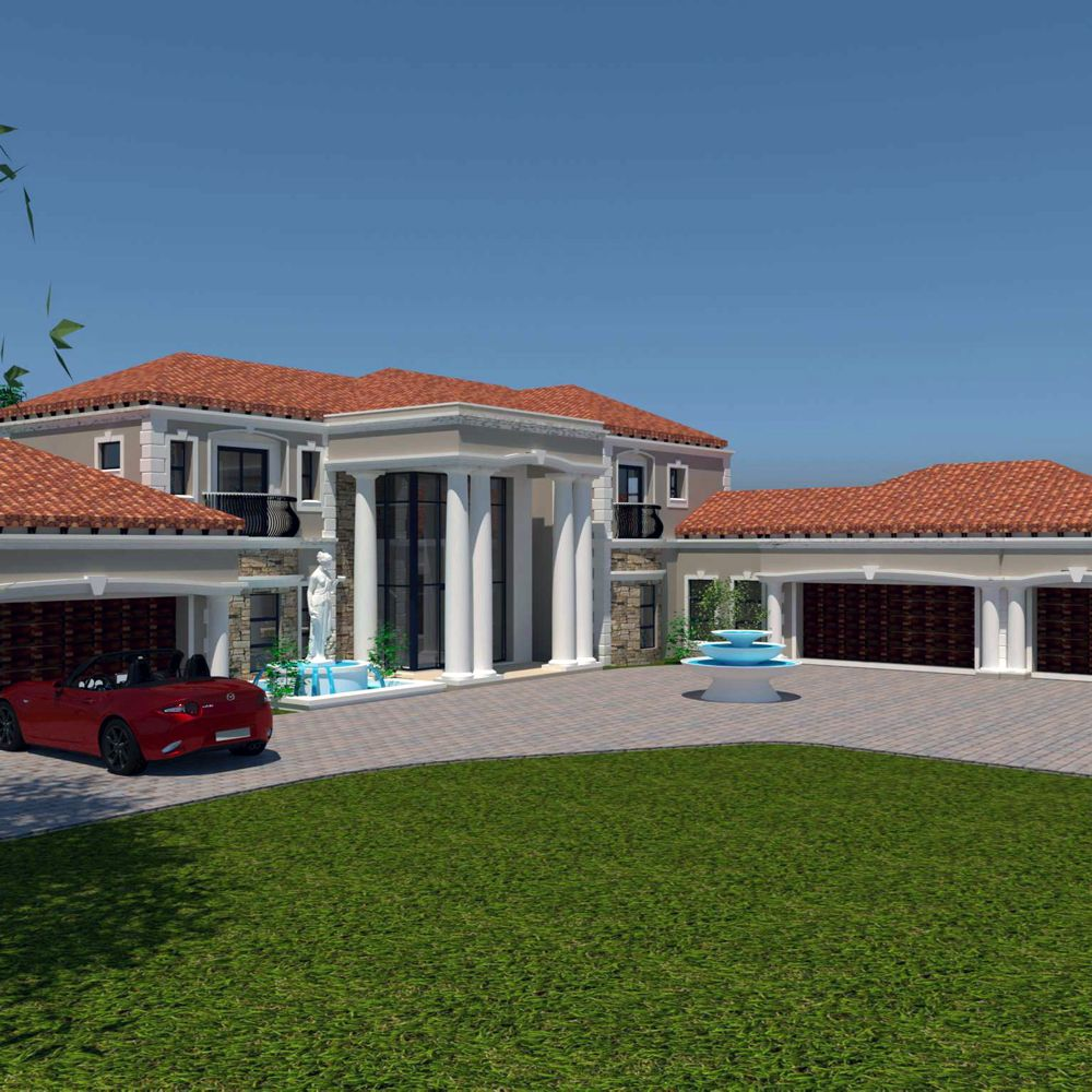 Luxury 5 Bedroom House Plans 866sqm Home Designs Nethouseplansnethouseplans 5 Bedroom House Plans Unique House Plans House Plan Gallery