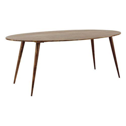 Tavolo ovale in massello di legno di sheesham per sala da pranzo L
