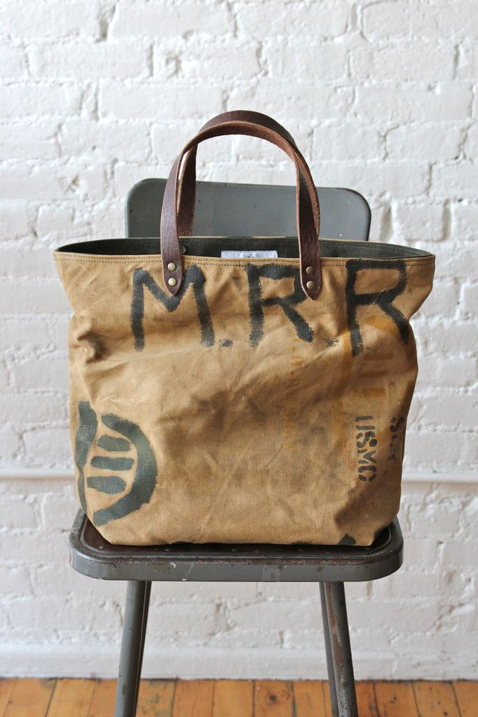 40c7cbcecb57 WWII era Military Canvas Tote Bag