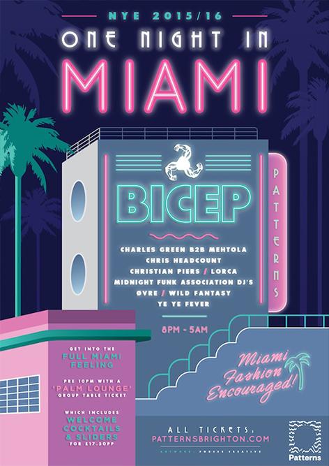 Posters — F O R C E S C R E A T I V E First night, Miami