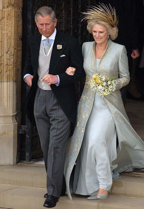 Wedding dress of Camilla Parker Bowles