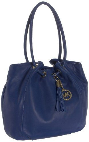 6bf17b2ec8e6 $328.00 Michael Kors Cobalt Blue Leather Ring Tote - Michael Kors Davis  Ring Tote shoulder tote