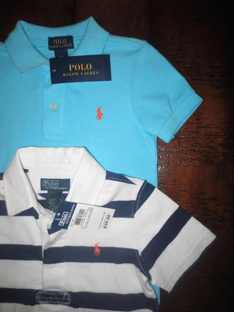 a10c1e9b7 POLO RALPH LAUREN TODDLER BOY 2 / 2T POLO SHIRTS LOT OF 2 TOPS NEW  #PoloRalphLauren