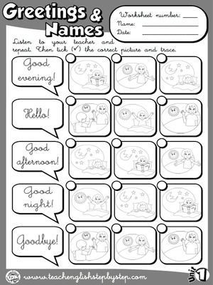 Greetings and names worksheet 3 bw version actividades o english classroom greetings and names worksheet m4hsunfo Image collections