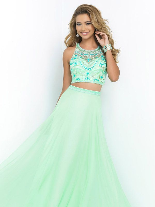 Blush 2015 prom dress- This jaw dropping two piece features a ...