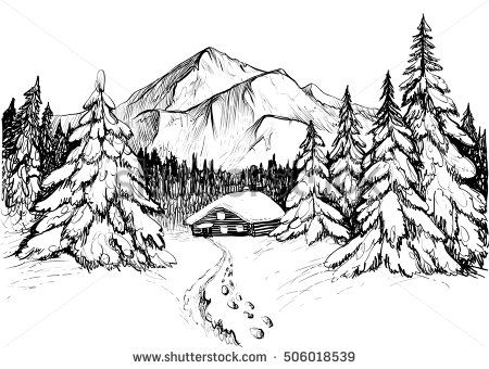 Starry Snowy Night Line Art Google Search Mnt Isles