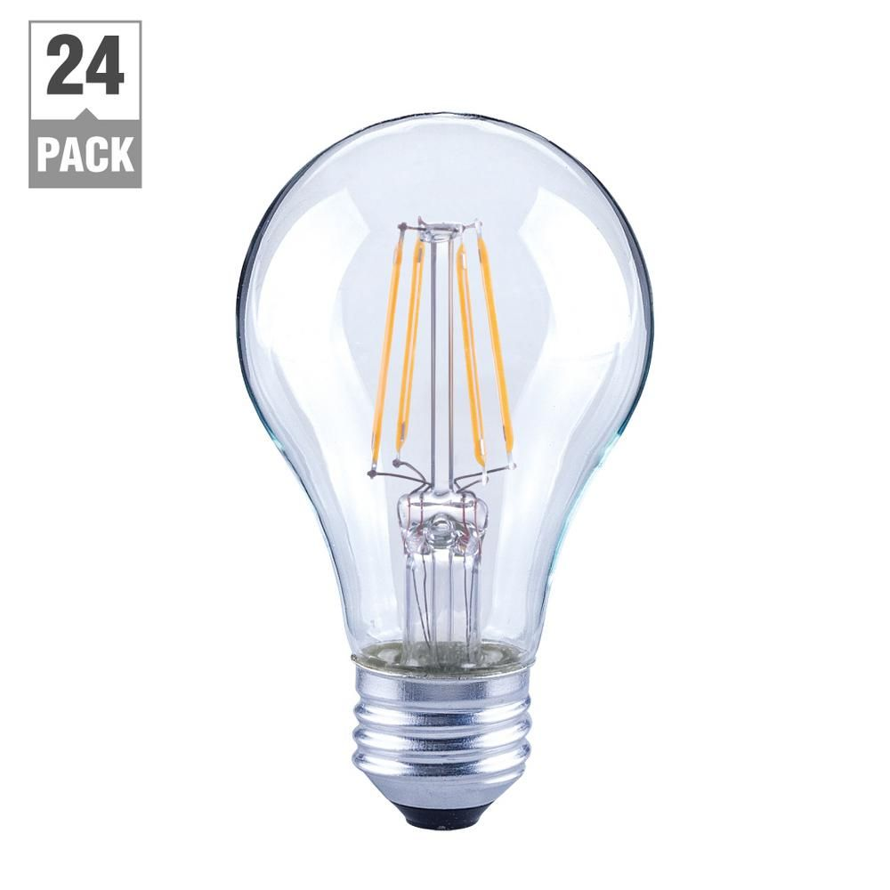 40 Watt Equivalent A19 Clear Glass Filament Dimmable Led Light Bulb Soft White 24 Pack With Images Led Light Bulb Dimmable Led Lights Light Bulb