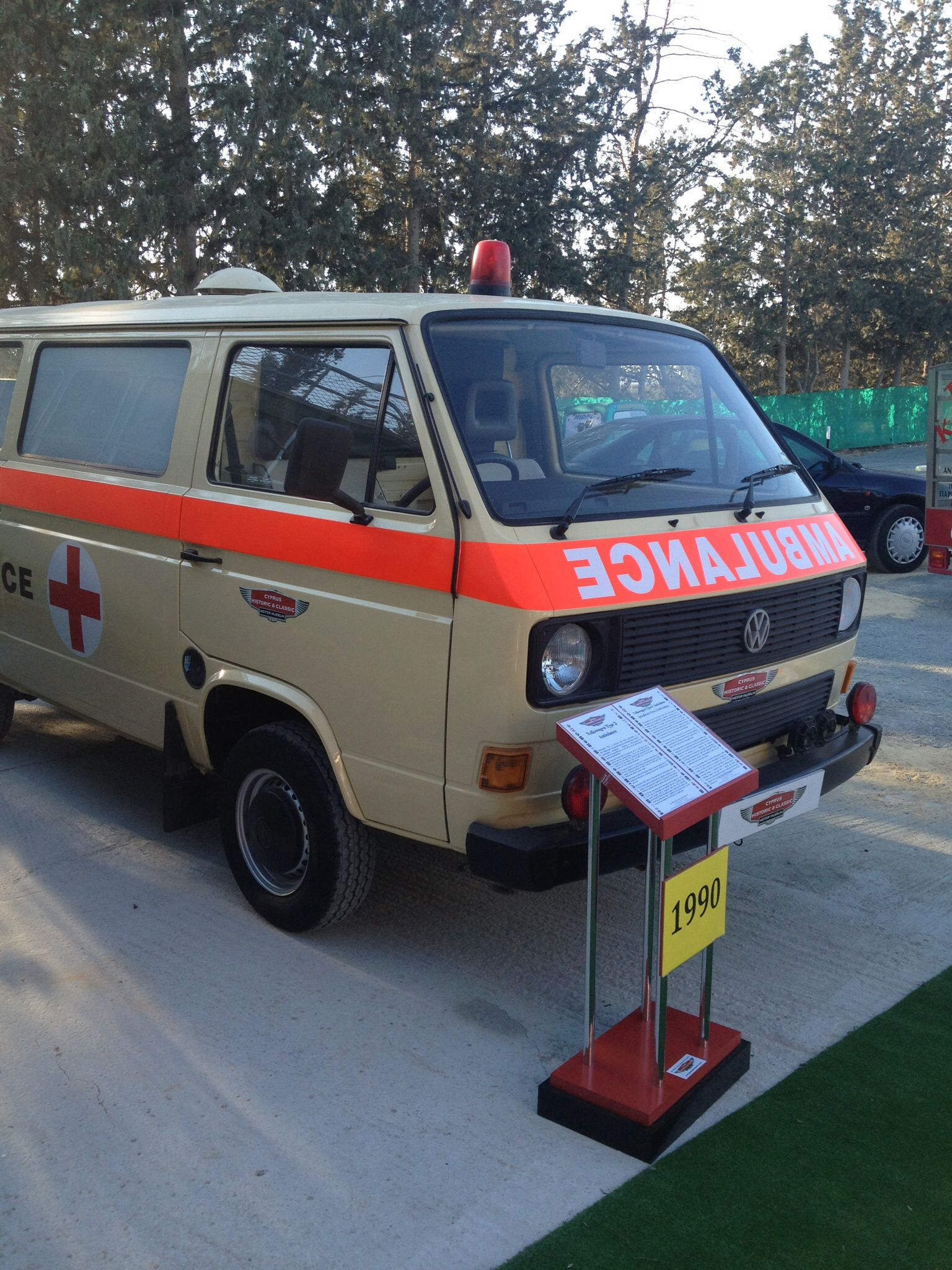 The Volkswagen type 2 Ambulance, 1990 | Cyprus Historic and
