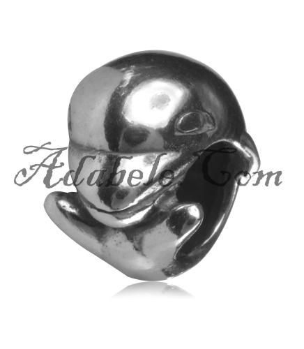 This beautiful dolphin .925 Sterling Silver European charm fits Pandora, Biagi Trollbeads, Chamilia, and most charm bracelets find out more at adabele.com