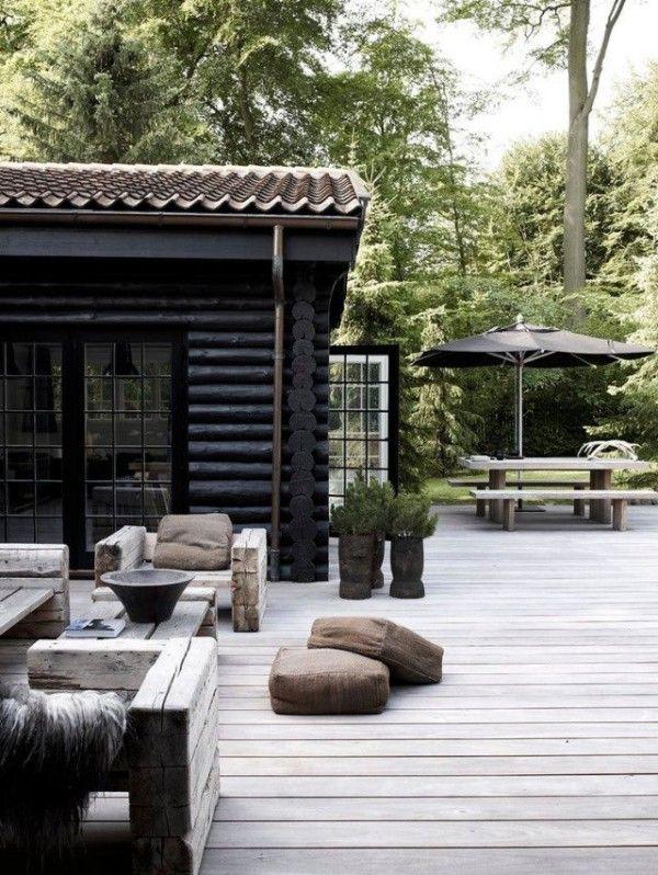 30 idées déco pour une terrasse scandinave en noir et blanc   Anbau ...