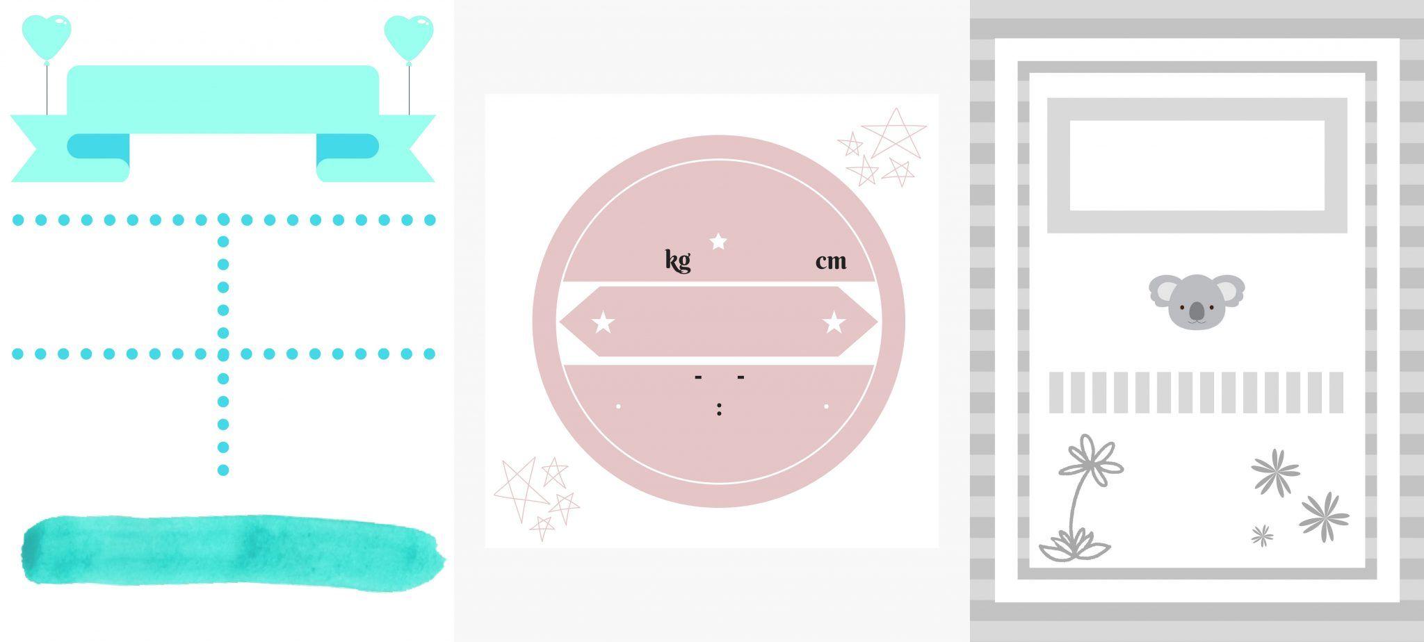 Lámina de nacimiento para editar y rellenar gratis | mios | Pinterest