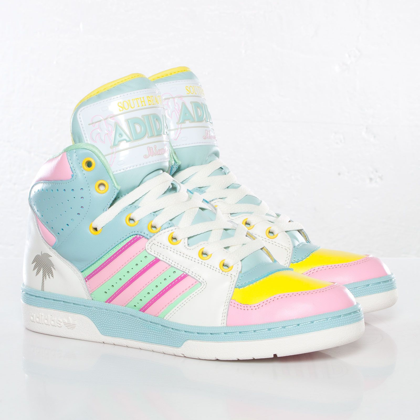 4e2a3c9916a8 ADIDAS OBYO JEREMY SCOTT LICENSE PLATE SOUTH BEACH MIAMI G95772  135 ...