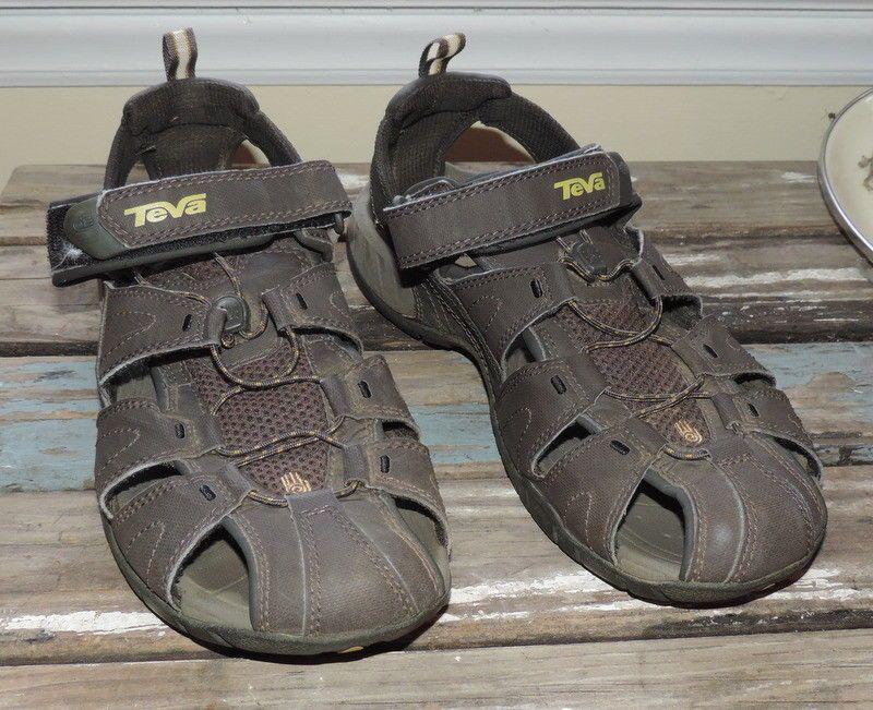 Teva Mens Dozer III Sport Sandals Water Coffee Brown 4154 SZ. 10 shoes