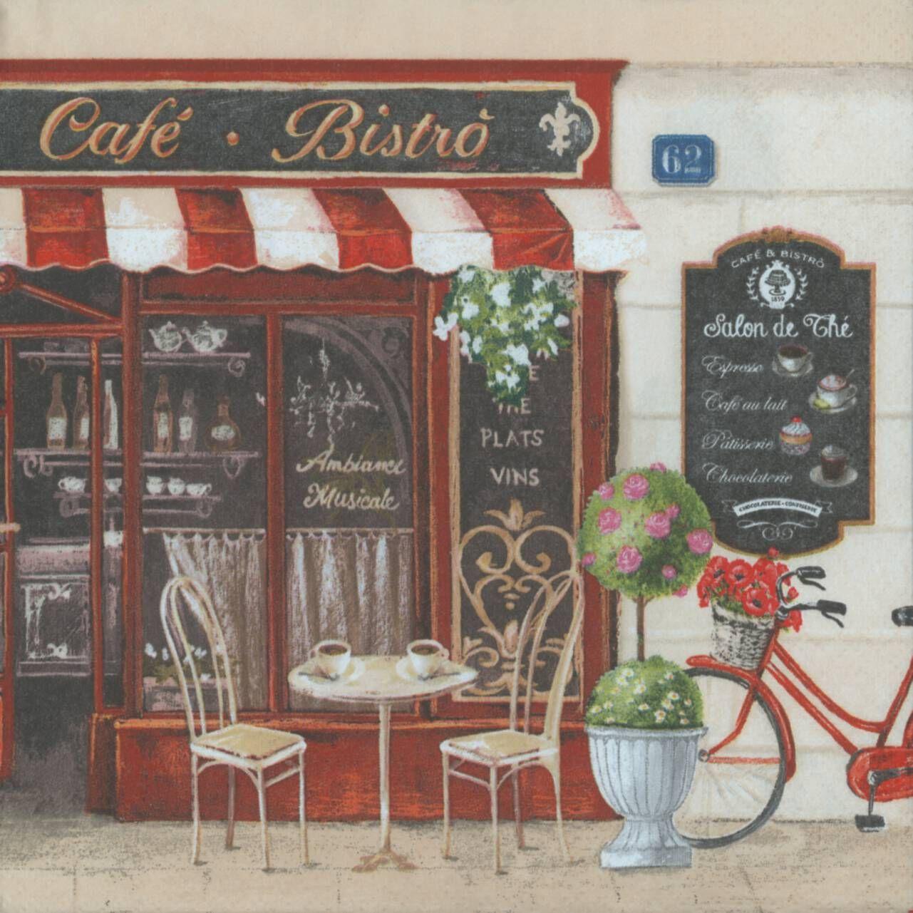 French cafe wedding