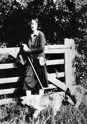 Vita Sackville-West photographed by Leonard Woolf in 1928. This picture, among others, would later adorn the pages of Virginia Woolf's 'Orlando'.