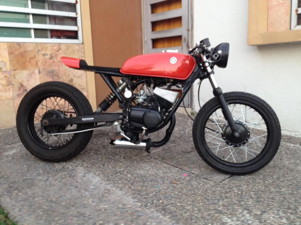 Rx 100 Modified Into Cafe Racer | Reviewmotors co