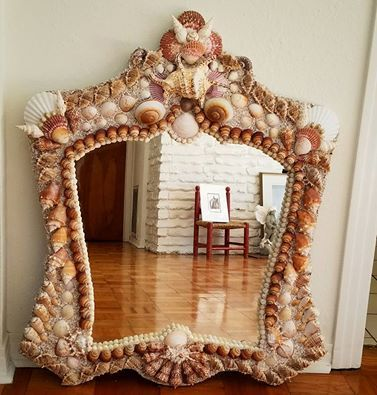 Custom Shape Seashell Mirror. Seashells. Custom designs ...