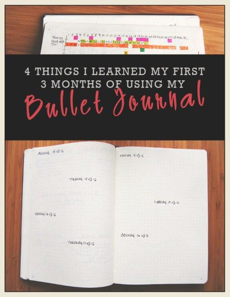 4 things I learned my first 3 months of using my Bullet Journal - Finding North