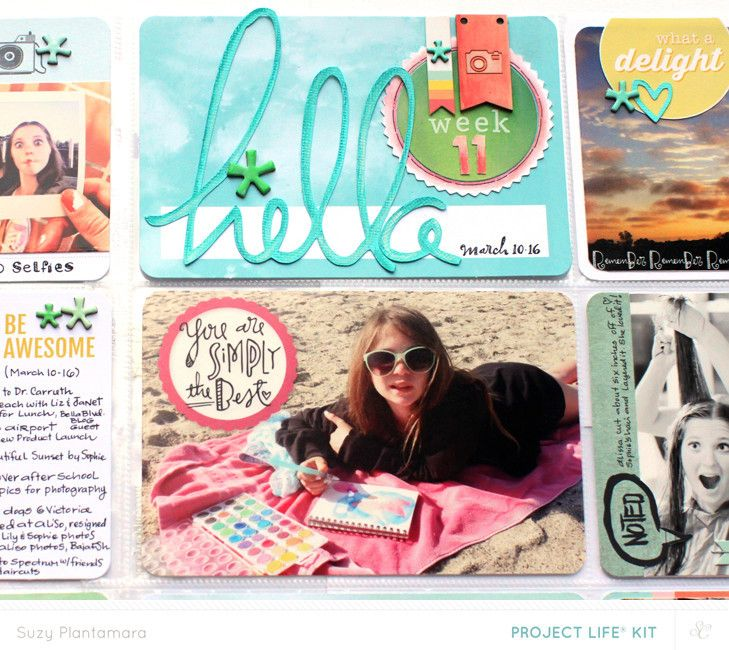 Project Life Week 11b (PL Kit Only) by suzyplant at @Studio_Calico